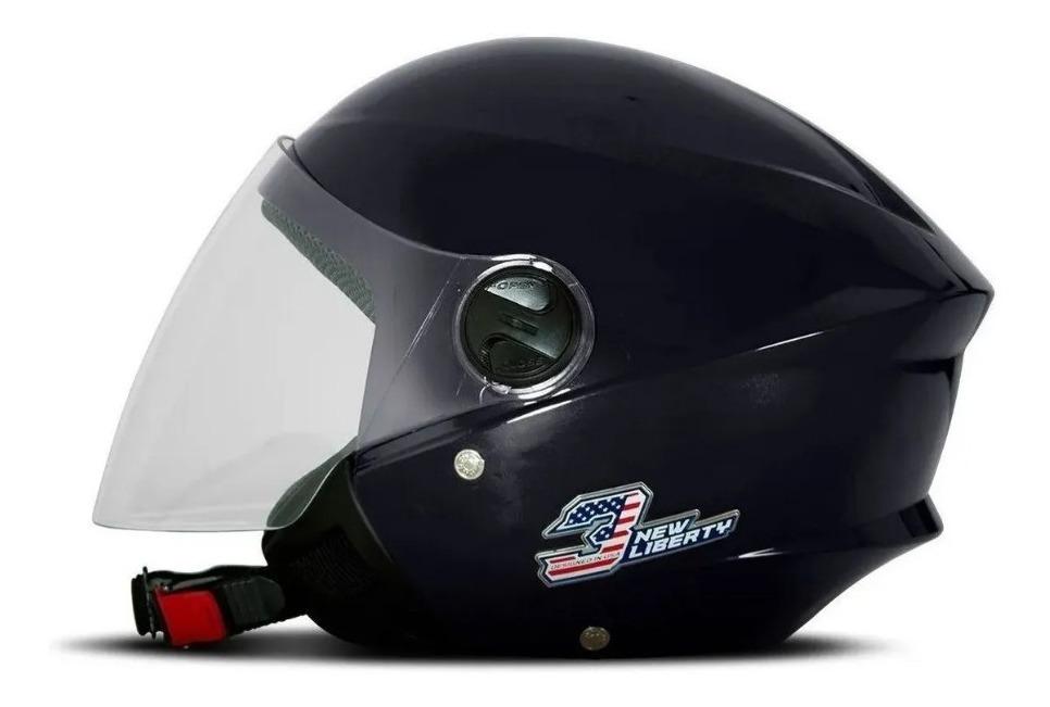 Capacete Aberto Pro Tork Liberty Three Elite Dark Blue 56