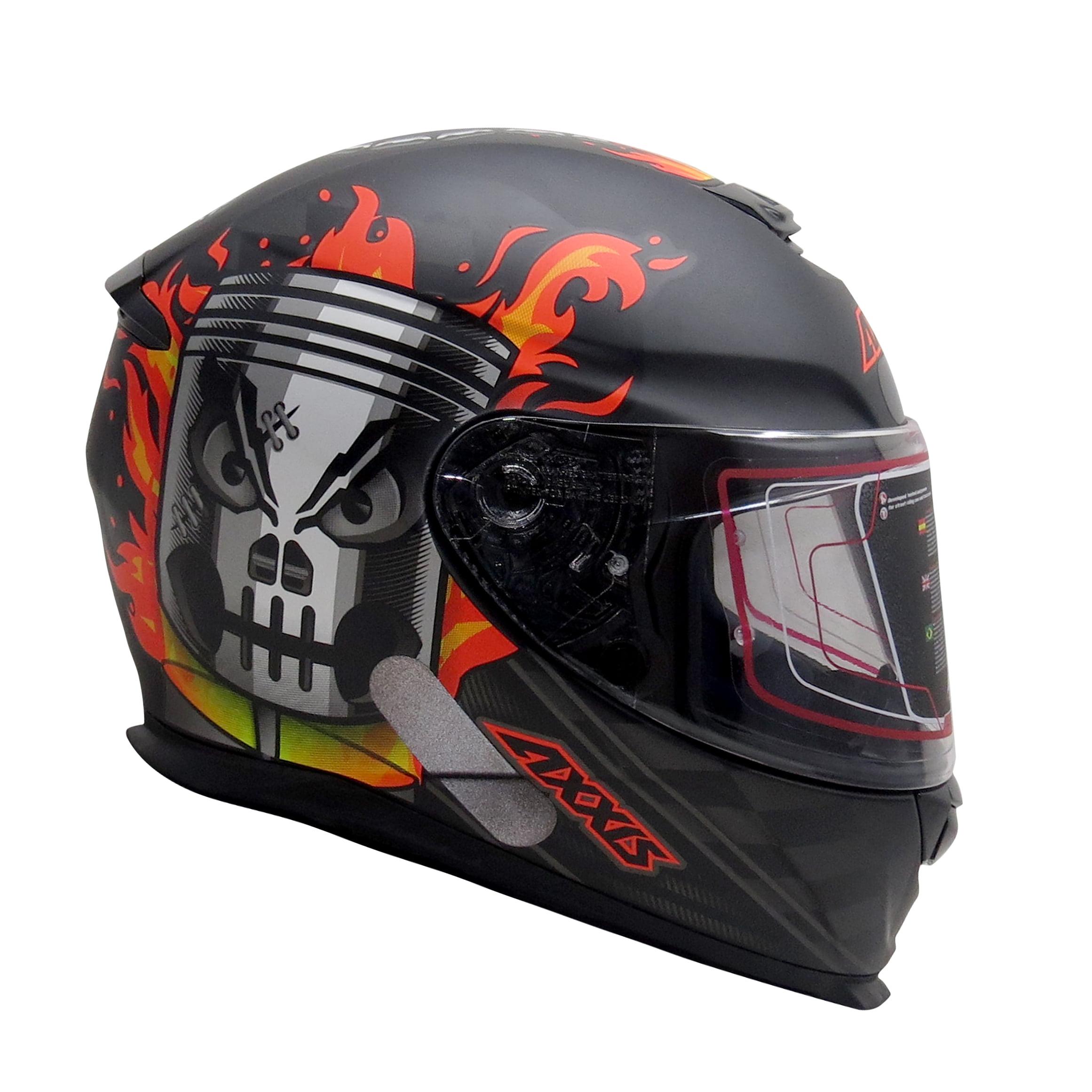 Capacete Axxis Piston Matt Black Orange