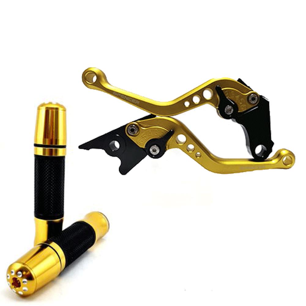 Kit Manete e Manopla Spencer  CB500R / CB500F / CB500X Reforçado Dourado Claro