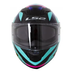 Capacete Ls2 Stream Crown Turquoise/pink