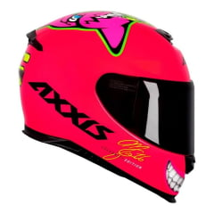 Capacete Axxis Eagle Mg16 Celebrity Edition Marianny Pink