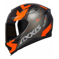 Capacete Axxis Eagle Diagon Matt Black Orange