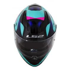 Capacete Ls2 Stream Crown Azul/Preto/Pink