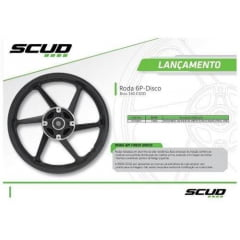 Roda Scud Bros 160 Esdd Disco Dianteiro E Traseiro