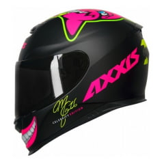 Capacete Axxis Eagle Mg16 Celebrity Marianny Matt Black