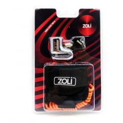 Trava De Disco Anti-furto Moto Cromada Chave K2 5.5m Zoli