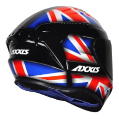 Capacete Axxis Uk Gloss Black/Red/Blue