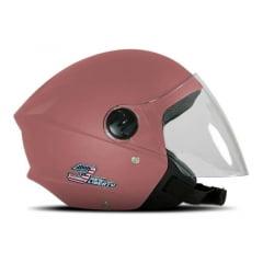 Capacete Aberto Pro Tork Liberty Three Elite Baby Pink