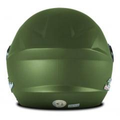 Capacete Aberto New Liberty Three Elite Verde Militar