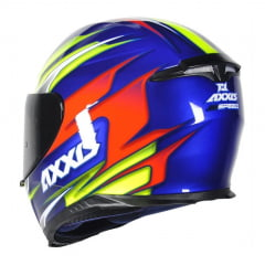 Capacete Axxis Eagle Speed Azul/Amarelo