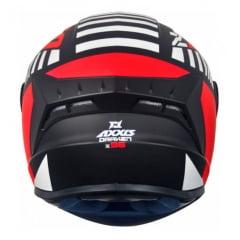 Capacete Axxis Draken Z96 Matt Black Red