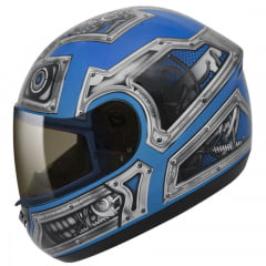 Capacete Peels Spike Robot Azul Ciano