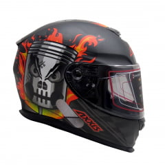 Capacete Axxis Piston Matt Black Orange