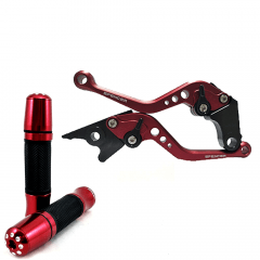 Kit Manete e Manopla Spencer  CB500R / CB500F / CB500X Reforçado Vermelho