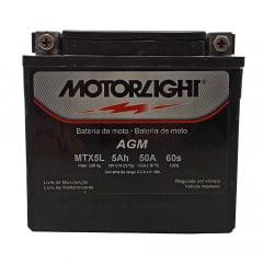 Bateria Motorlight MTX5L 5ah 6Volts