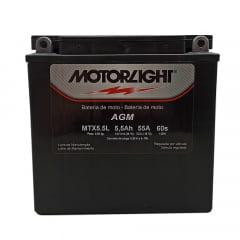Bateria Ybr 125 Rd 125 Rd 135 Rd 350 Motorlight Mtx5.5L