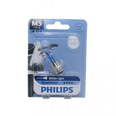 Lâmpada Farol Philips M5 Blue Vision Branca Biz 100/125