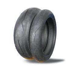 Par Pneus Diablo Super Corsa Pirelli 180 55 17 e 120 70 17