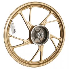 Rodas Scud Fan 125 2009 até 2019 KS 5P MOD160EX Sem câmara de Ar Dourada Freio a Tambor Par