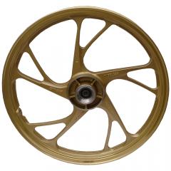Rodas Liga Leve Scud Fan 150 ESD 2009 até 2013 5P MOD160EX Sem Câmara de Ar Dourada Freio a Disco