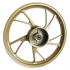 Rodas Liga Leve Scud Titan 150 ESD 2014 até 2019 5P MOD160EX Sem Câmara de ar Dourada Freio a Disco Par