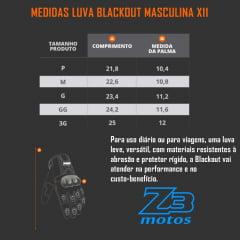 Luva X11 Blackout Motoqueiro Motocross Motos Motoboy